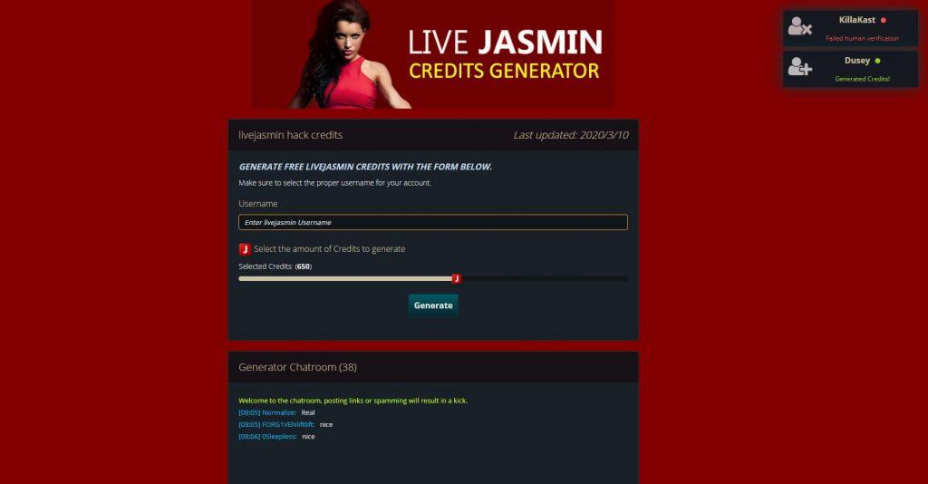 livejasmin credits generator